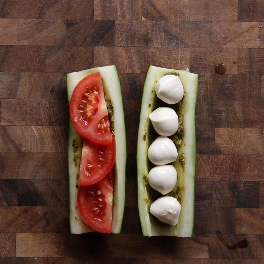 Tomato Mozzarella Cucumber Sub