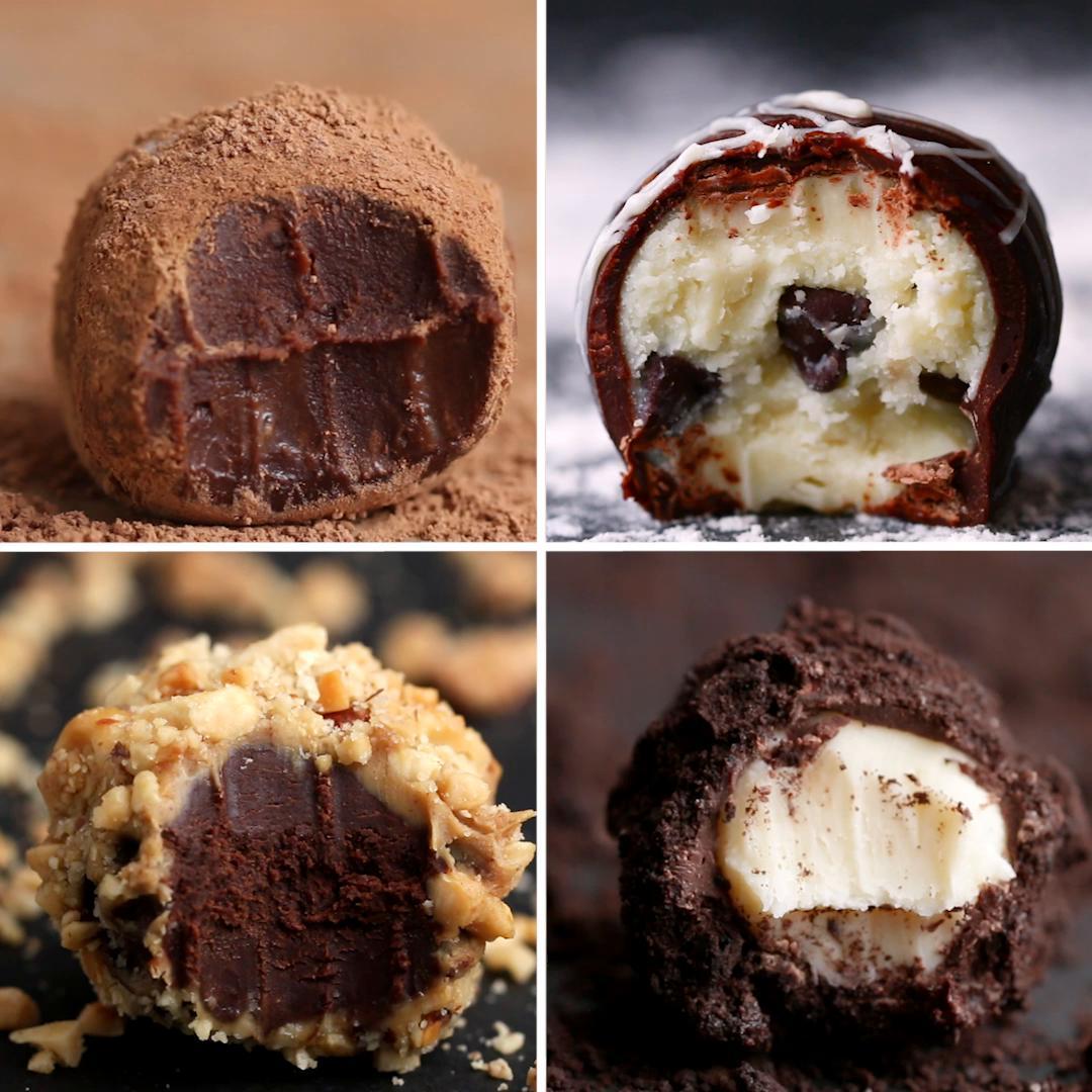 Easy Chocolate Truffles 4 Ways Recipes