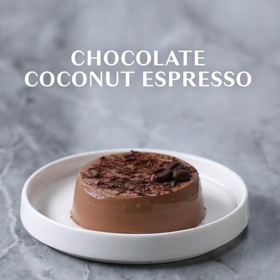 Dairy-Free Chocolate Coconut Espresso Panna Cotta