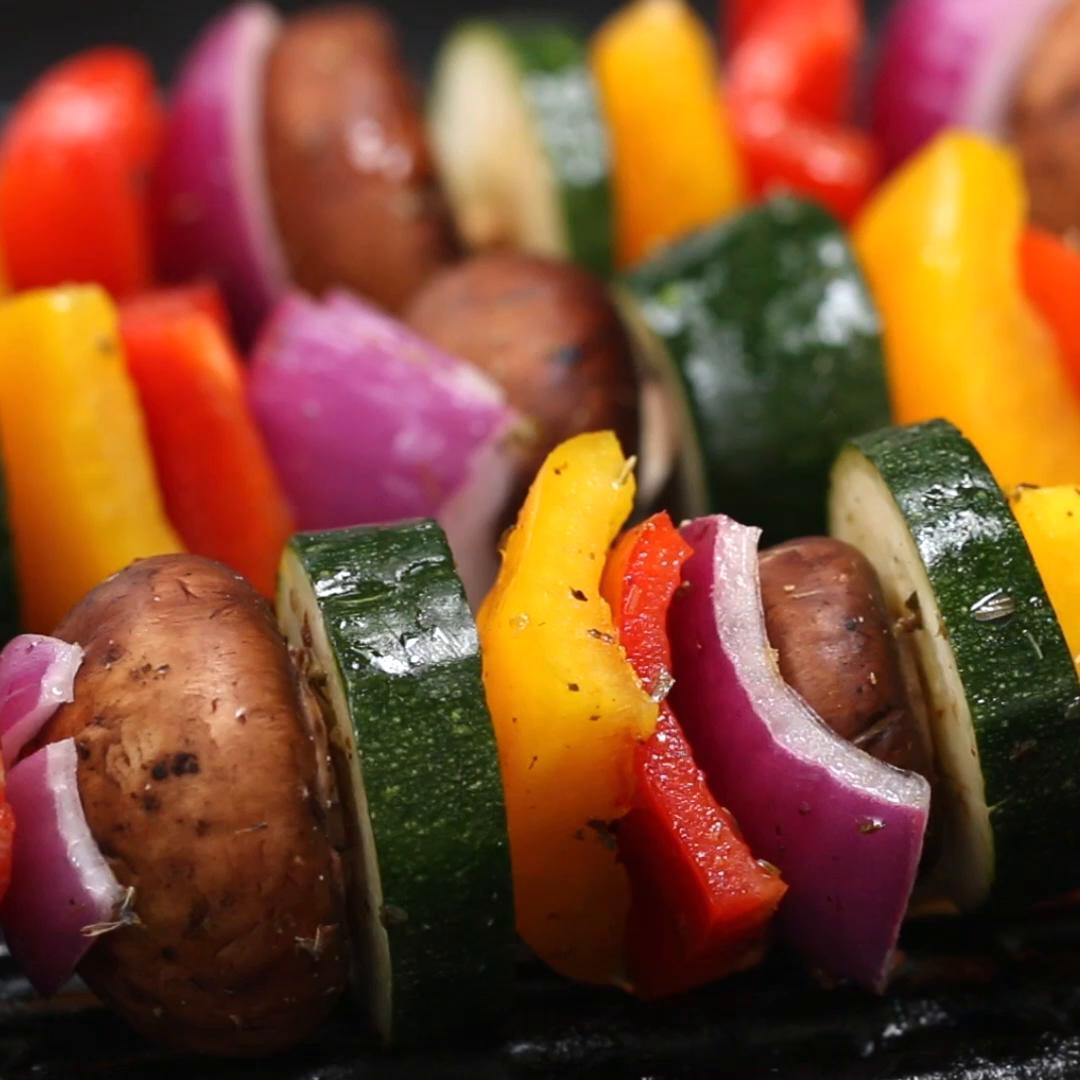 Roasted Veggie Skewers Recipe by Tasty
