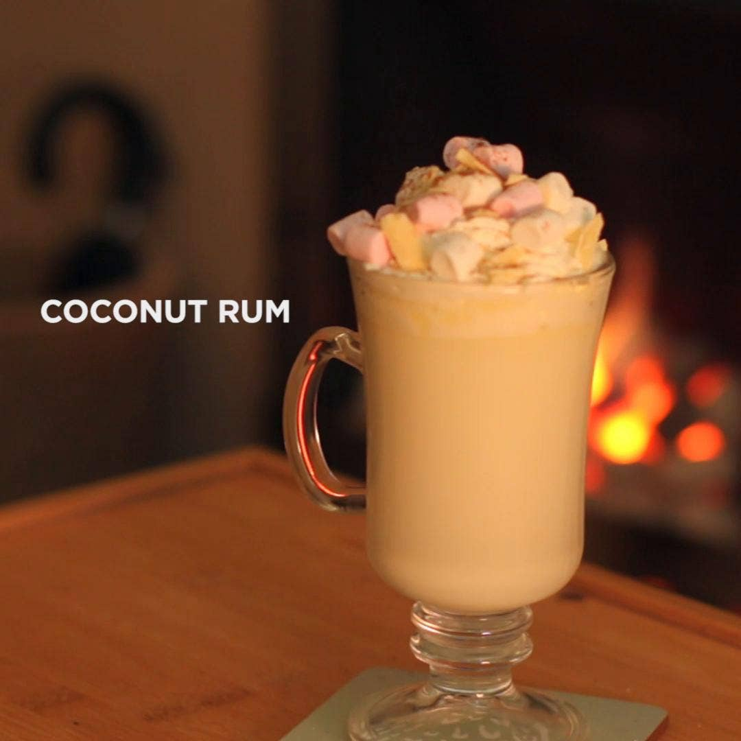 Coconut Rum Hot Chocolate Recipe by Tasty