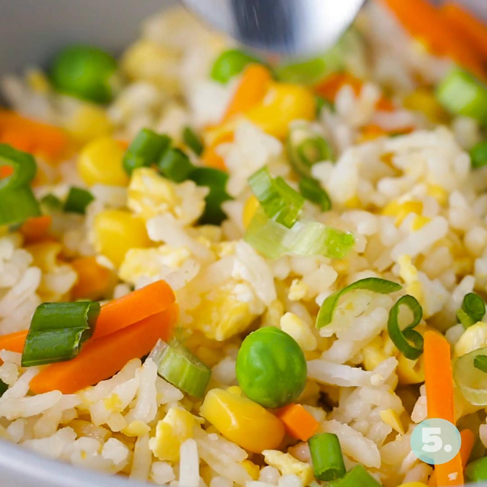 """Microwaved """"Fried"""" Rice"""
