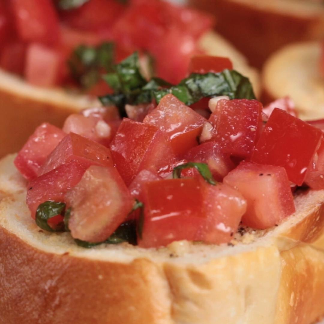 Garlic Bread Bruschetta Recipe By Tasty