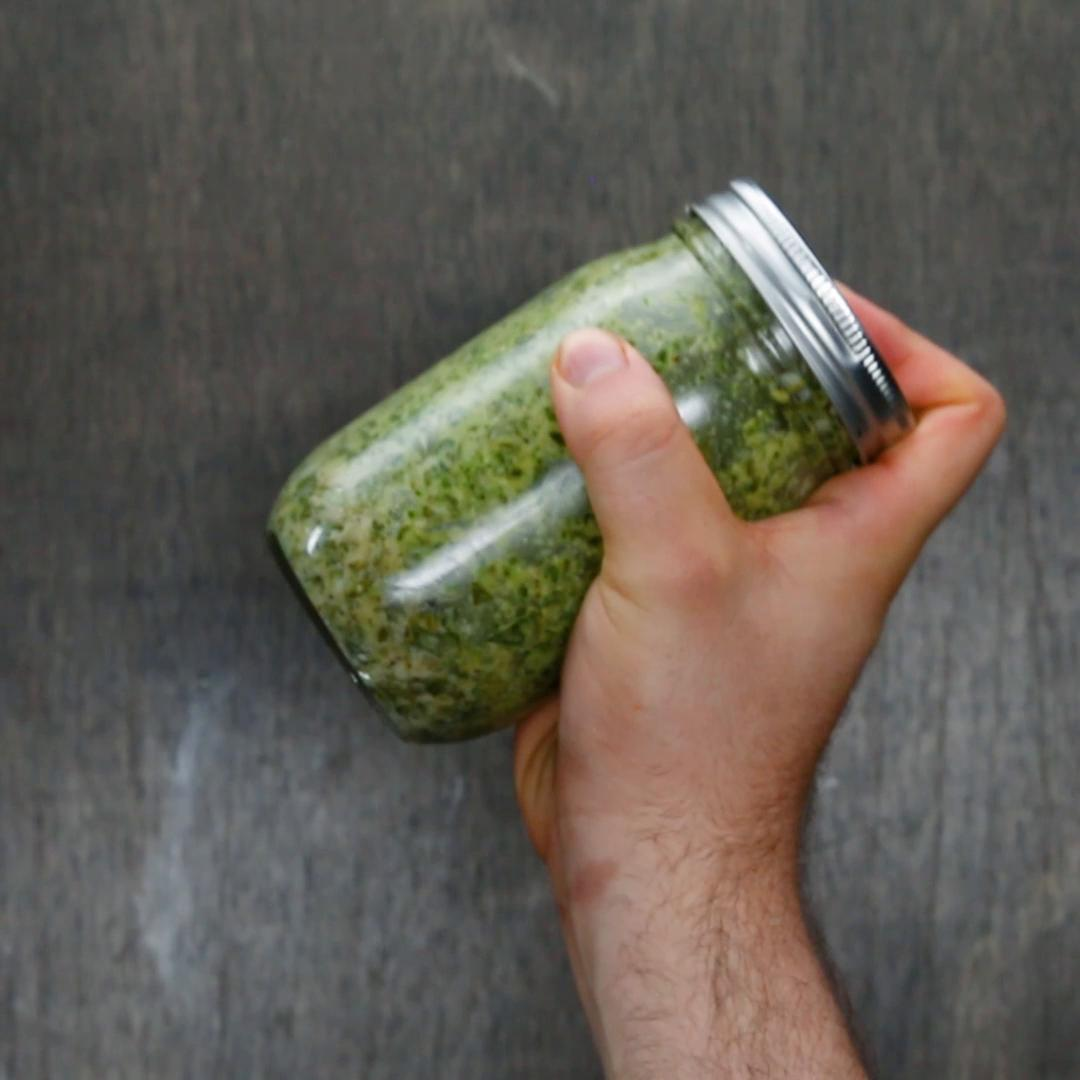 Mason Jar Basil Pesto Recipe By Tasty
