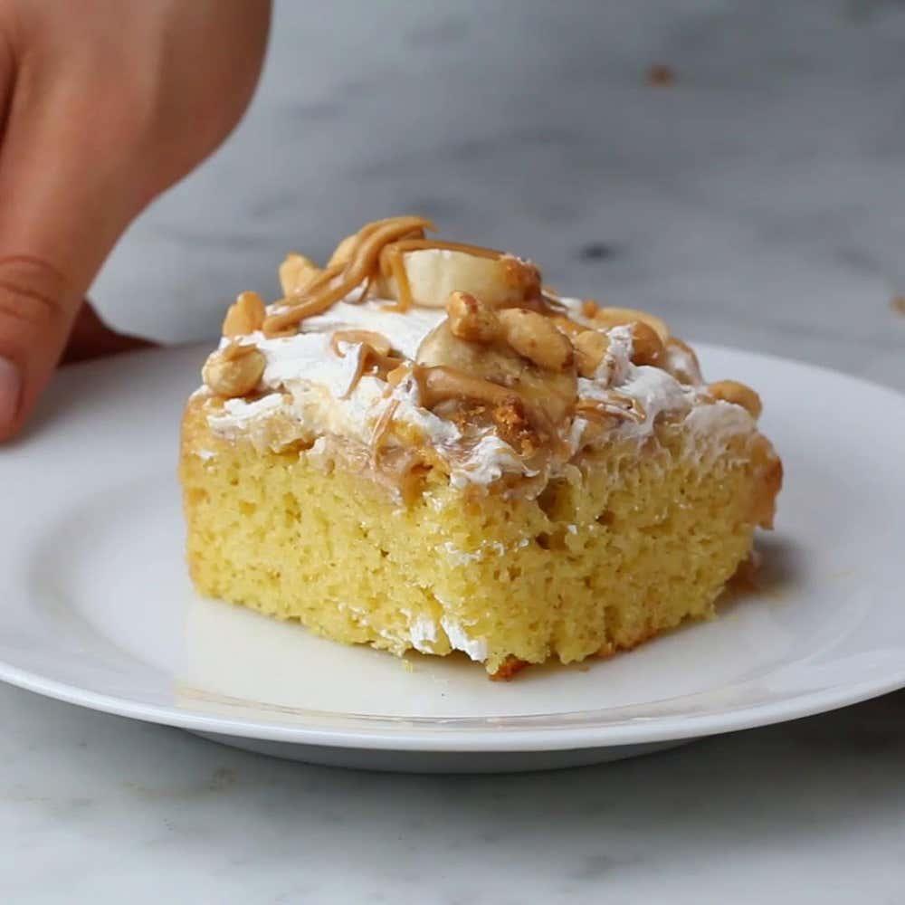 Banana Pudding Poke Cake Recipe By Tasty