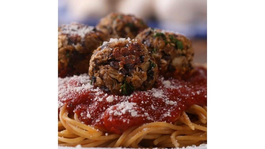 """Mushroom """"Meat""""balls"""