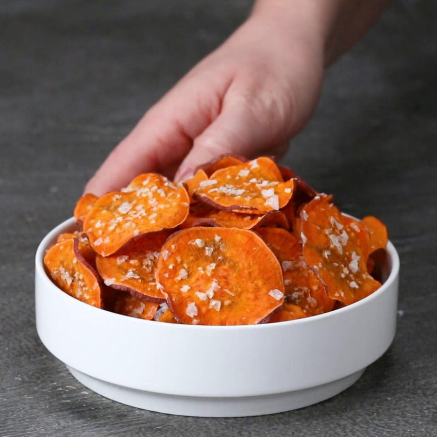 2-minute Sweet Potato Chips