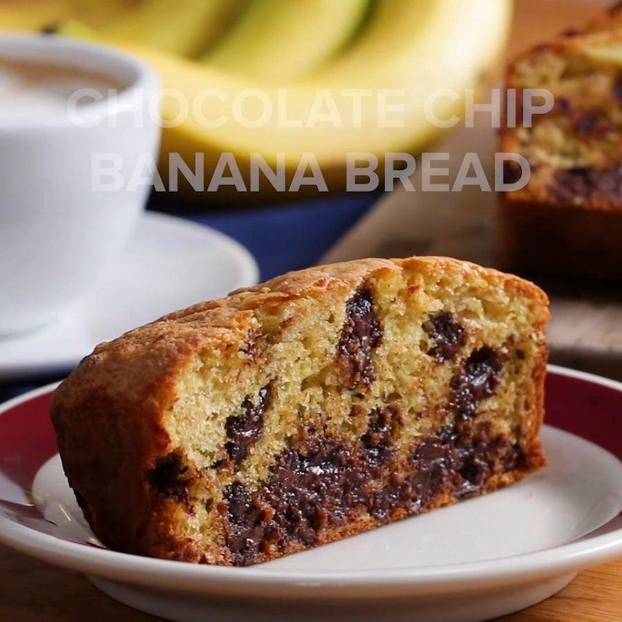 Chocolate Chip Banana 'Box' Bread
