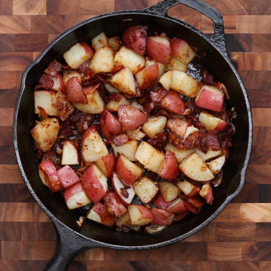 Bacon And Onion Roasted Potatoes