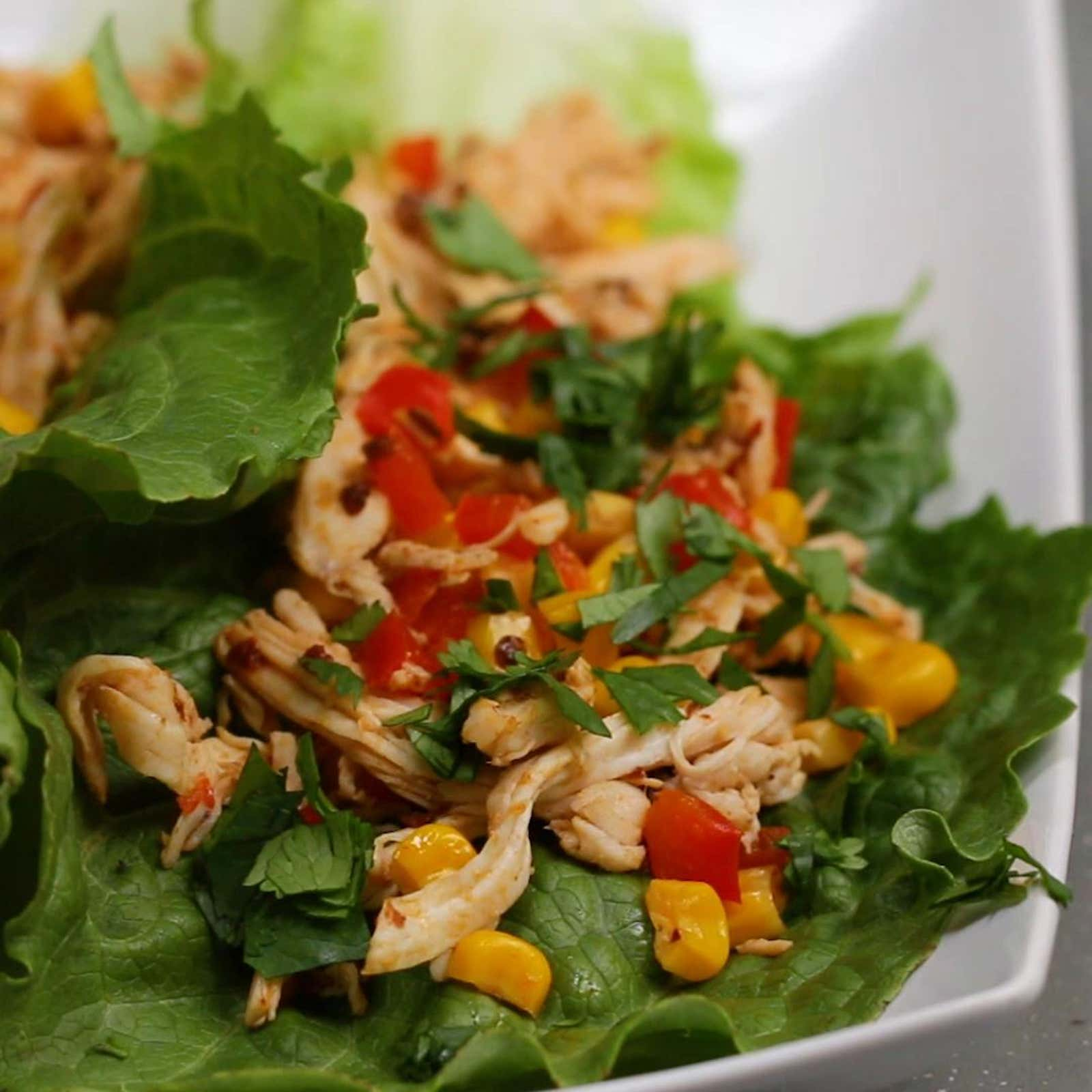Chipotle Chicken Lettuce Cups