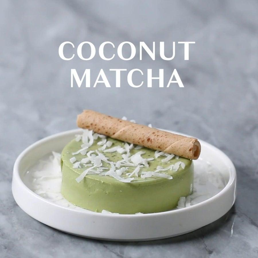 Dairy-Free Coconut Matcha Panna Cotta