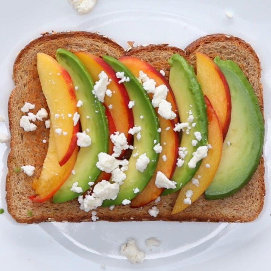 Peach & Feta Avocado Toast