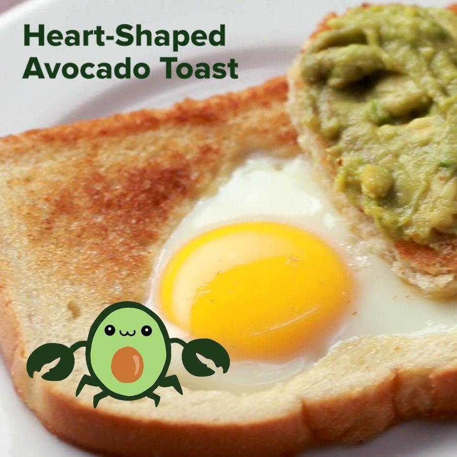 Heart-Shaped Avocado Toast (Cancer)
