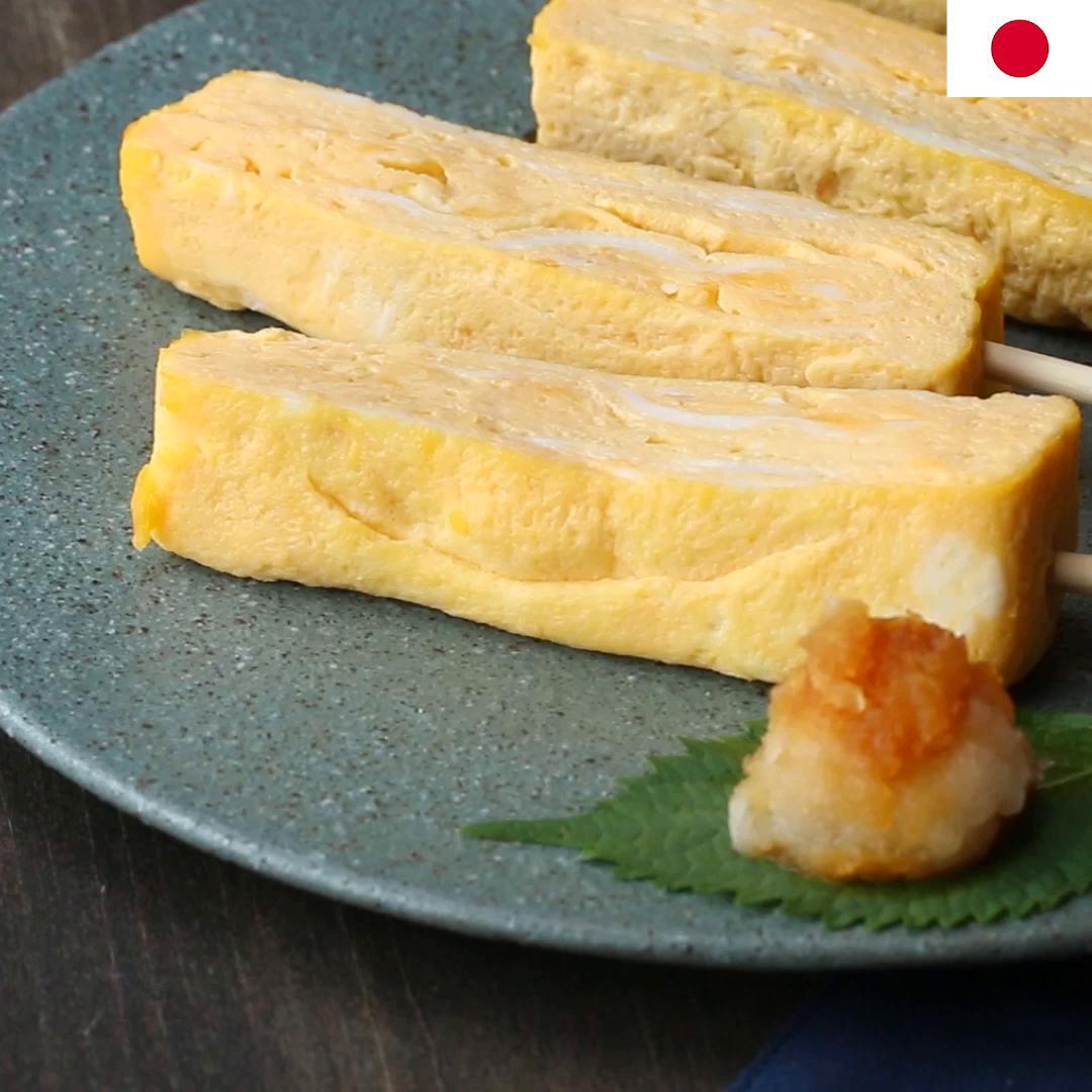 Japanese Omelette Tamagoyaki Recipe By Tasty