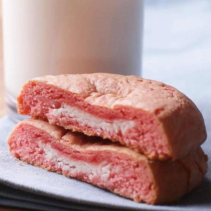 Strawberry Cheesecake 'Box' Cookies