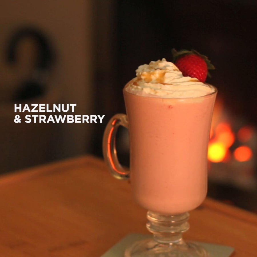 Hazelnut Strawberry Hot Chocolate