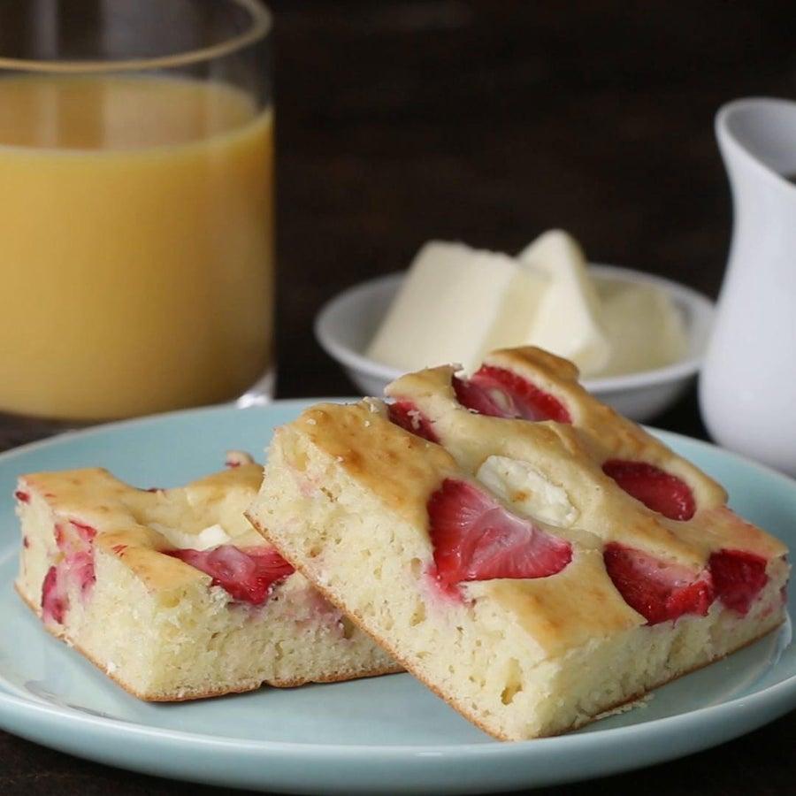 Strawberry Shortcake Sheet Pan Pancakes