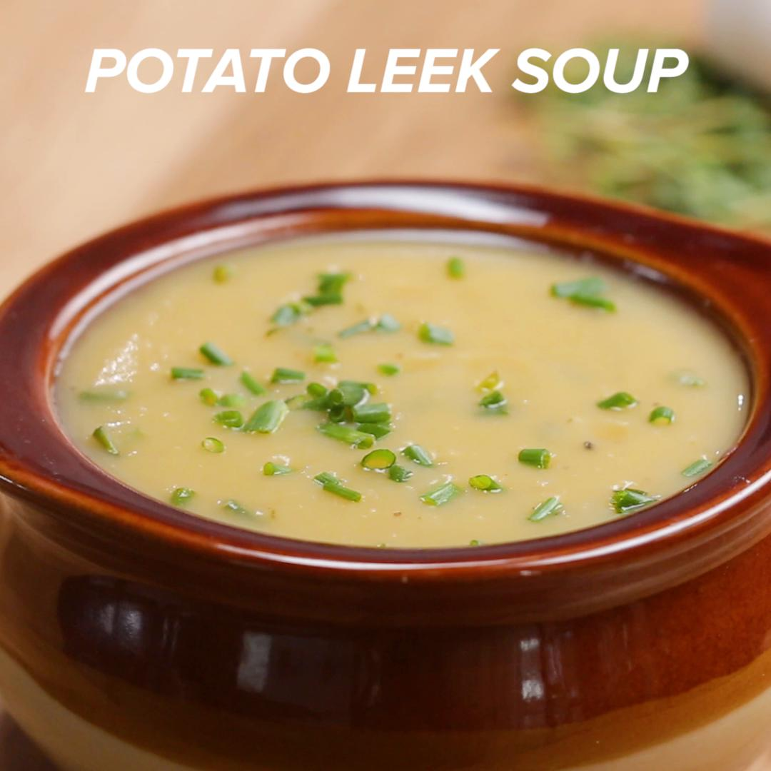 Watch Potato Leek Soup Recipe video