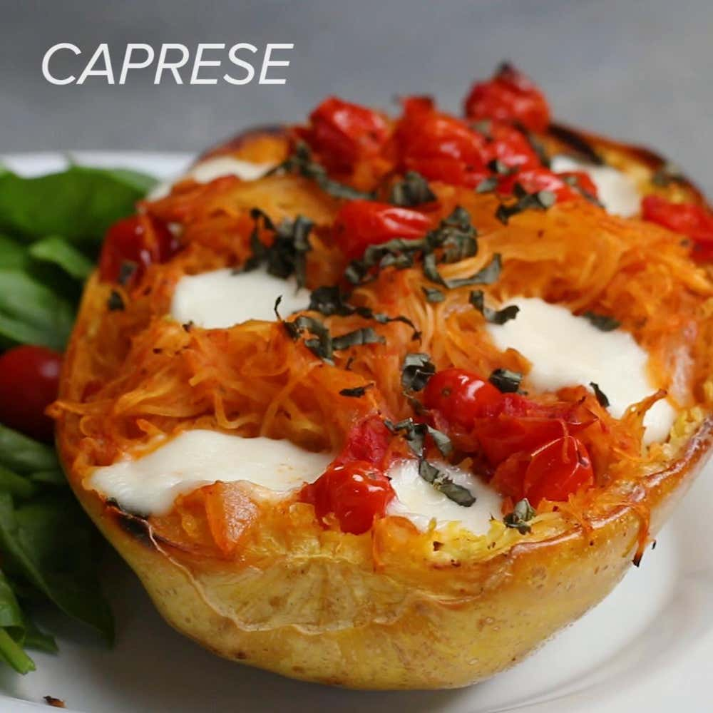 Caprese Spaghetti Squash Recipe By Tasty