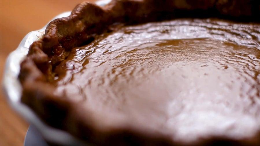 Pumpkin Pie: Roasted Can