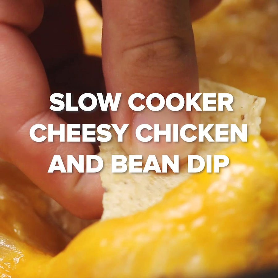 Slow Cooker Cheesy Chicken And Bean Dip