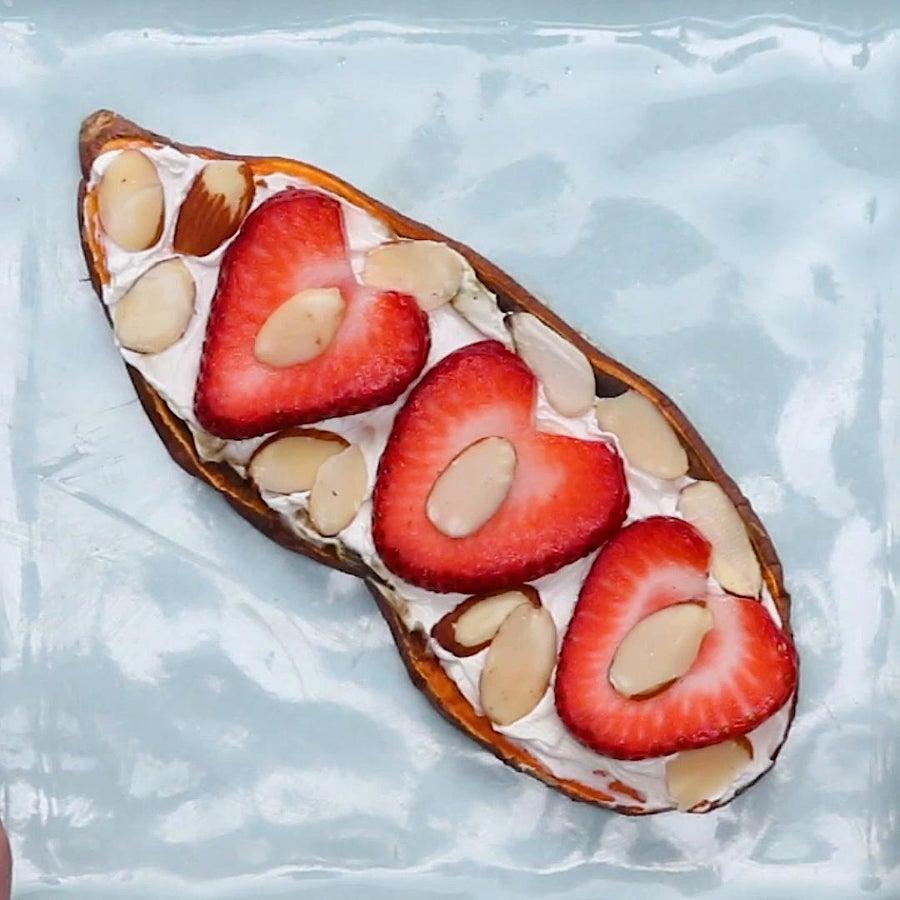 Strawberry Almond Sweet Potato Toast