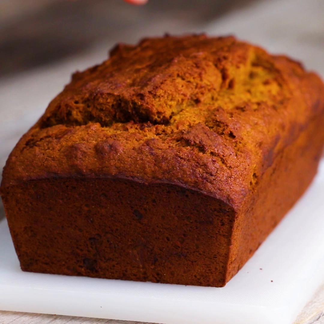 Lighter Pumpkin Bread Recipe By Tasty