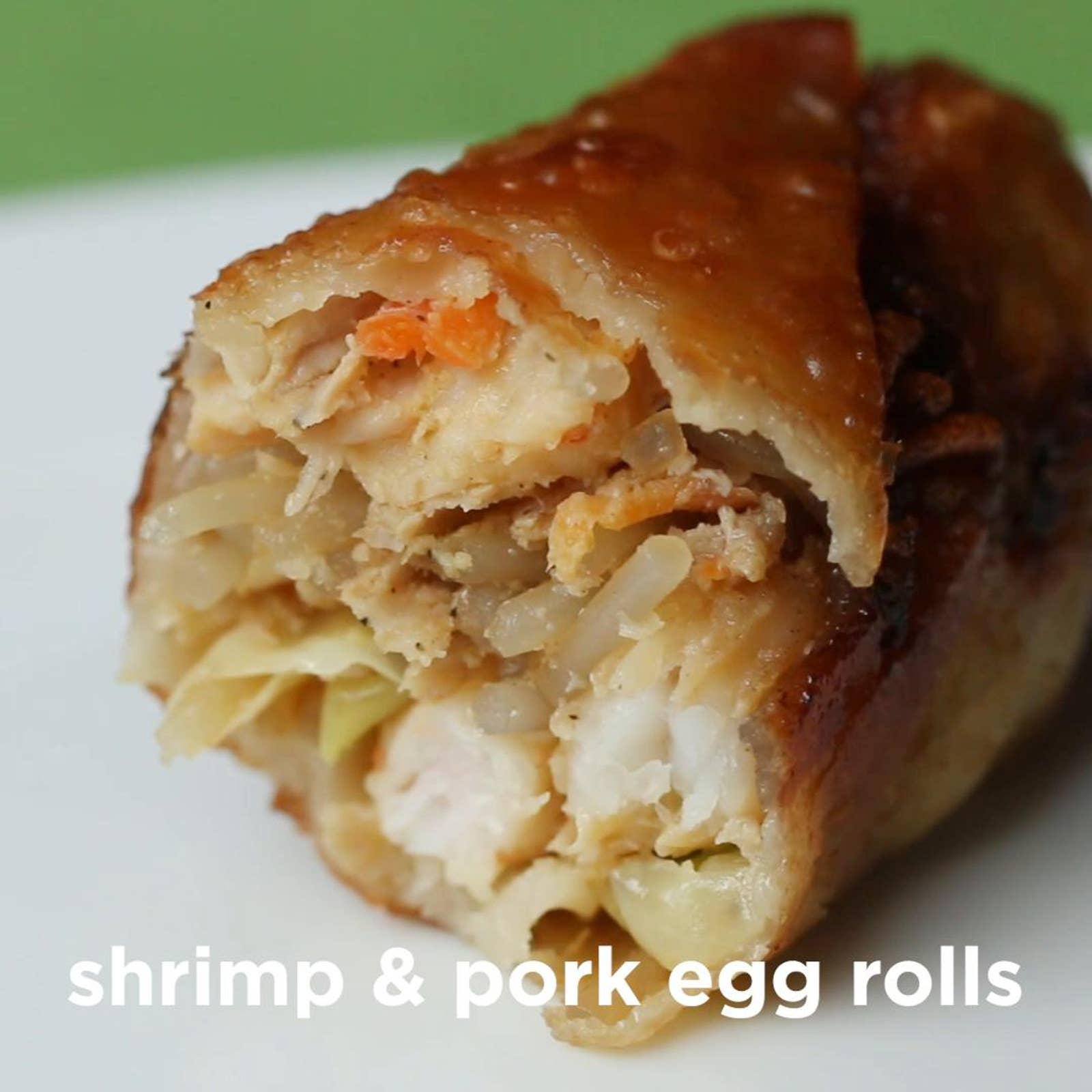Takeout-Style Shrimp & Pork Egg Rolls