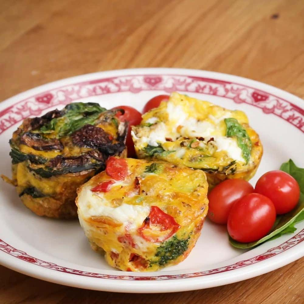 Muffin Tin Customizable Veggie Egg Cups Recipe By Tasty