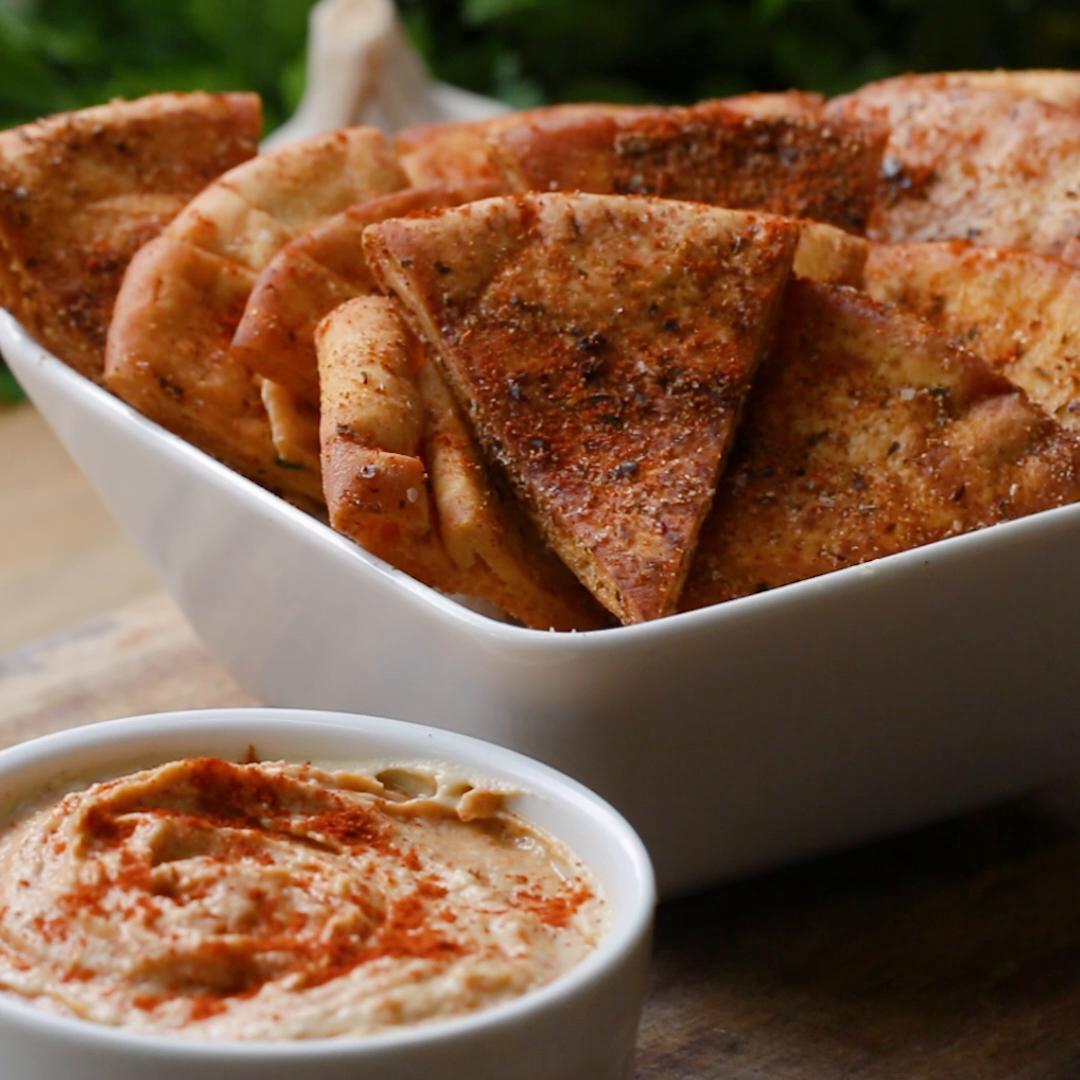 Pita Chips 4 Ways