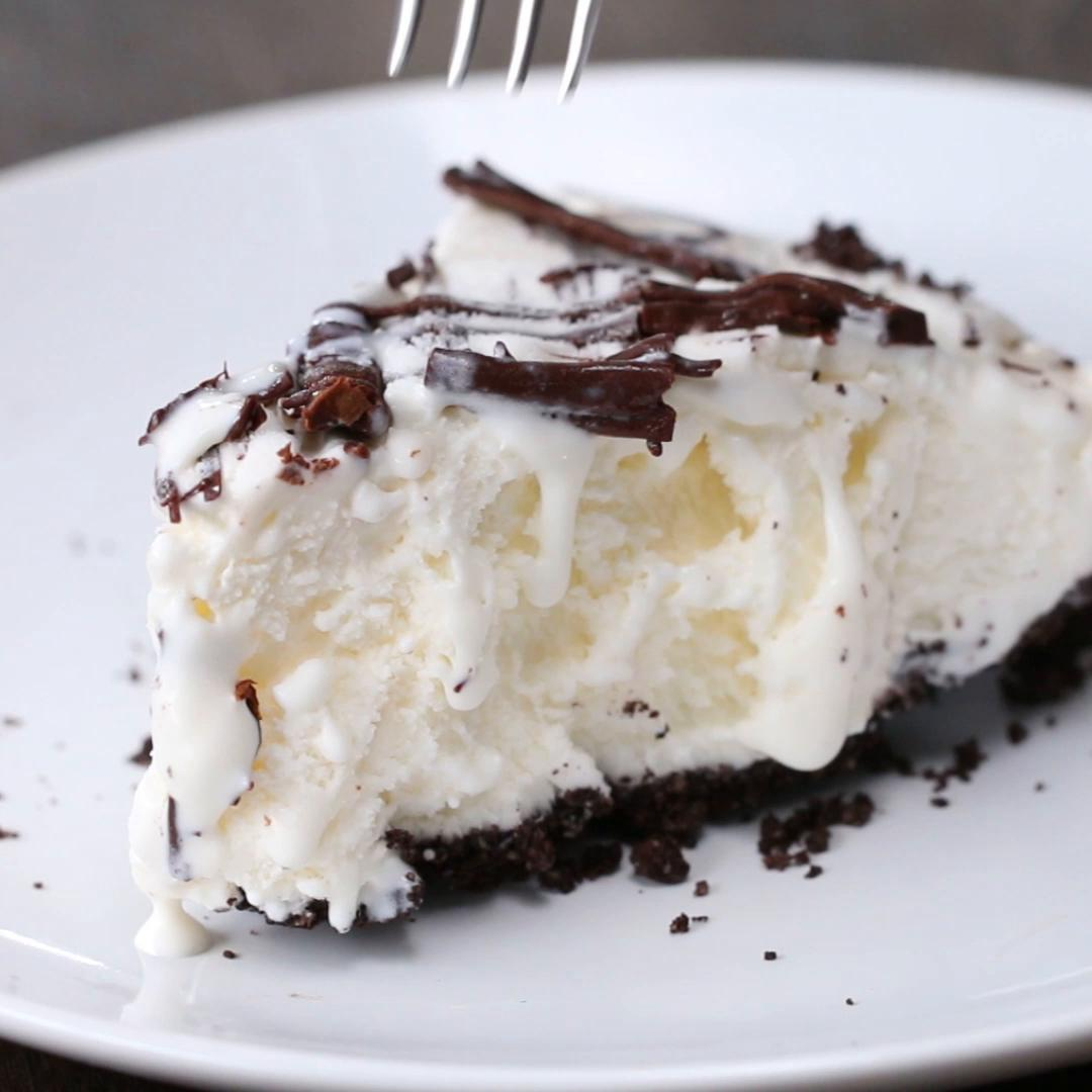 3-ingredient Cookies & Ice Cream Pie Recipe by Tasty
