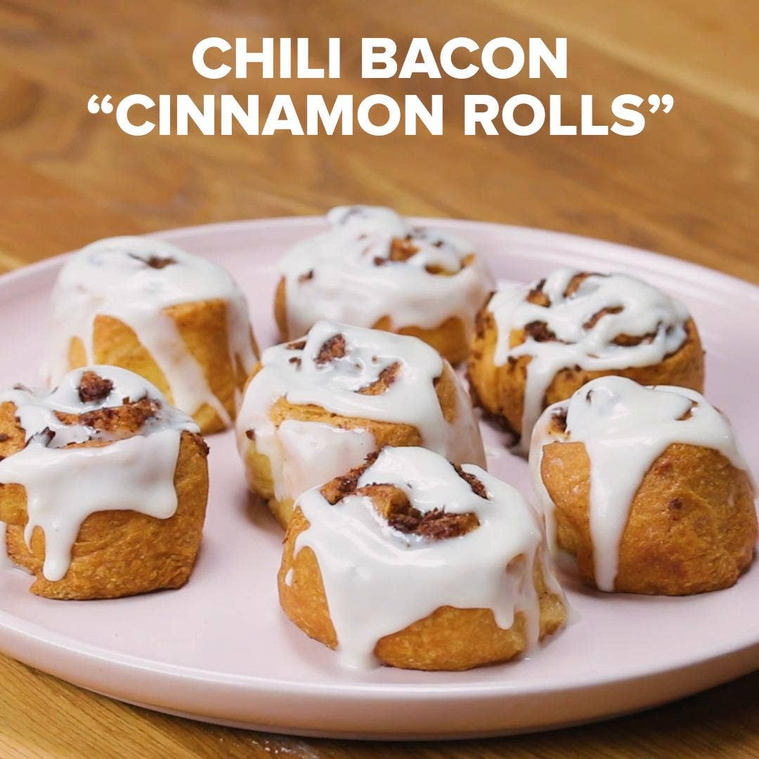 Chili Bacon Cinnamon Rolls Recipe By Tasty