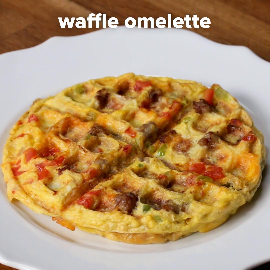 Waffle Omelette Recipe By Tasty