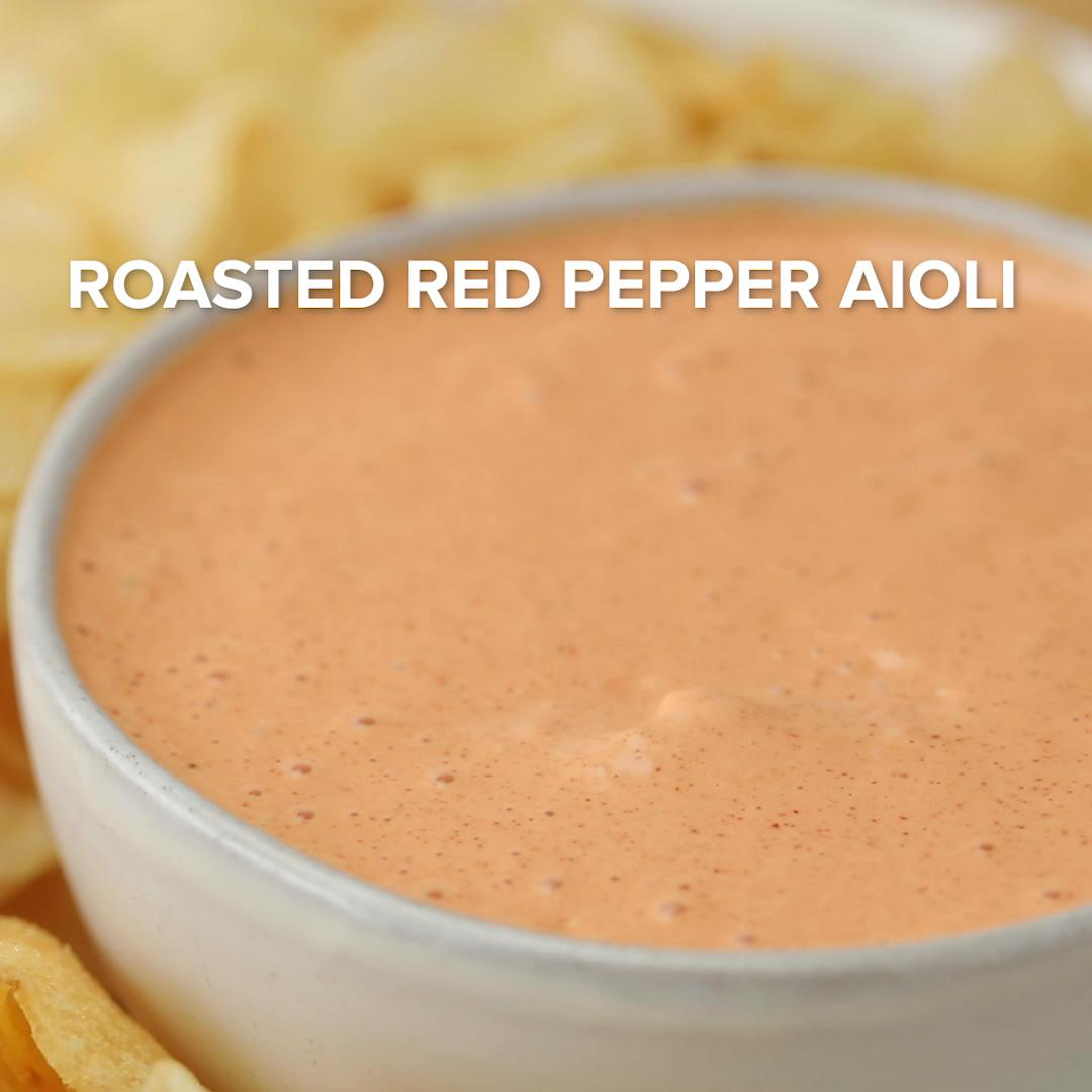 Roasted Red Pepper Aioli Recipe By Tasty