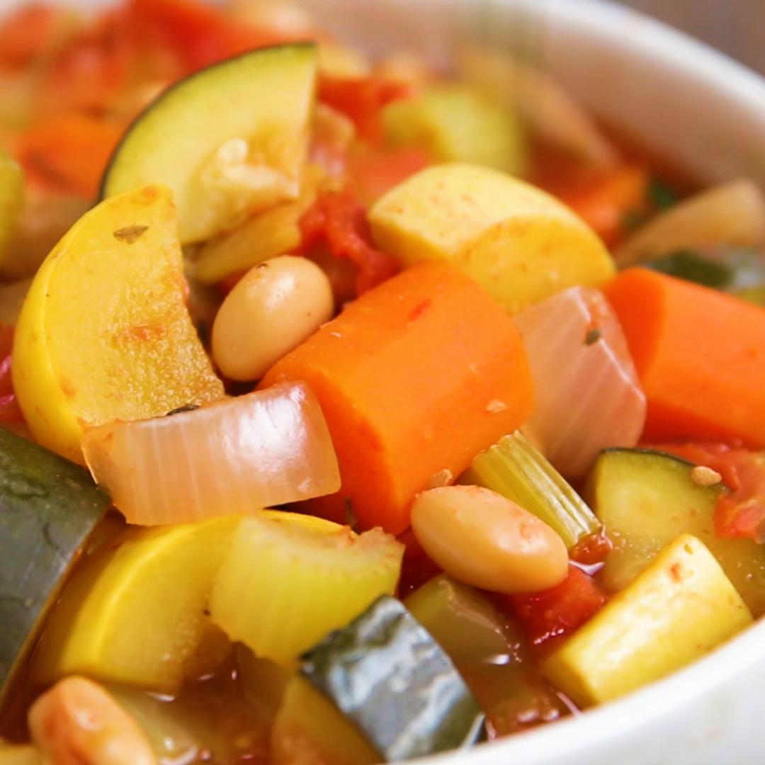 Freezer Prep Hearty Veggie Soup Recipe By Tasty