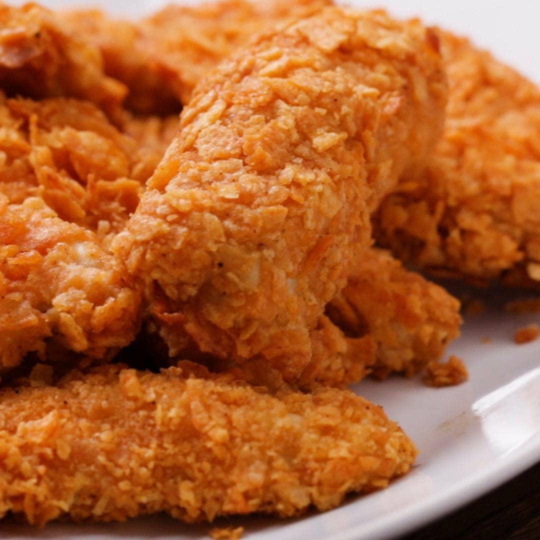 Potato Chip Chicken Tenders Recipe By Tasty