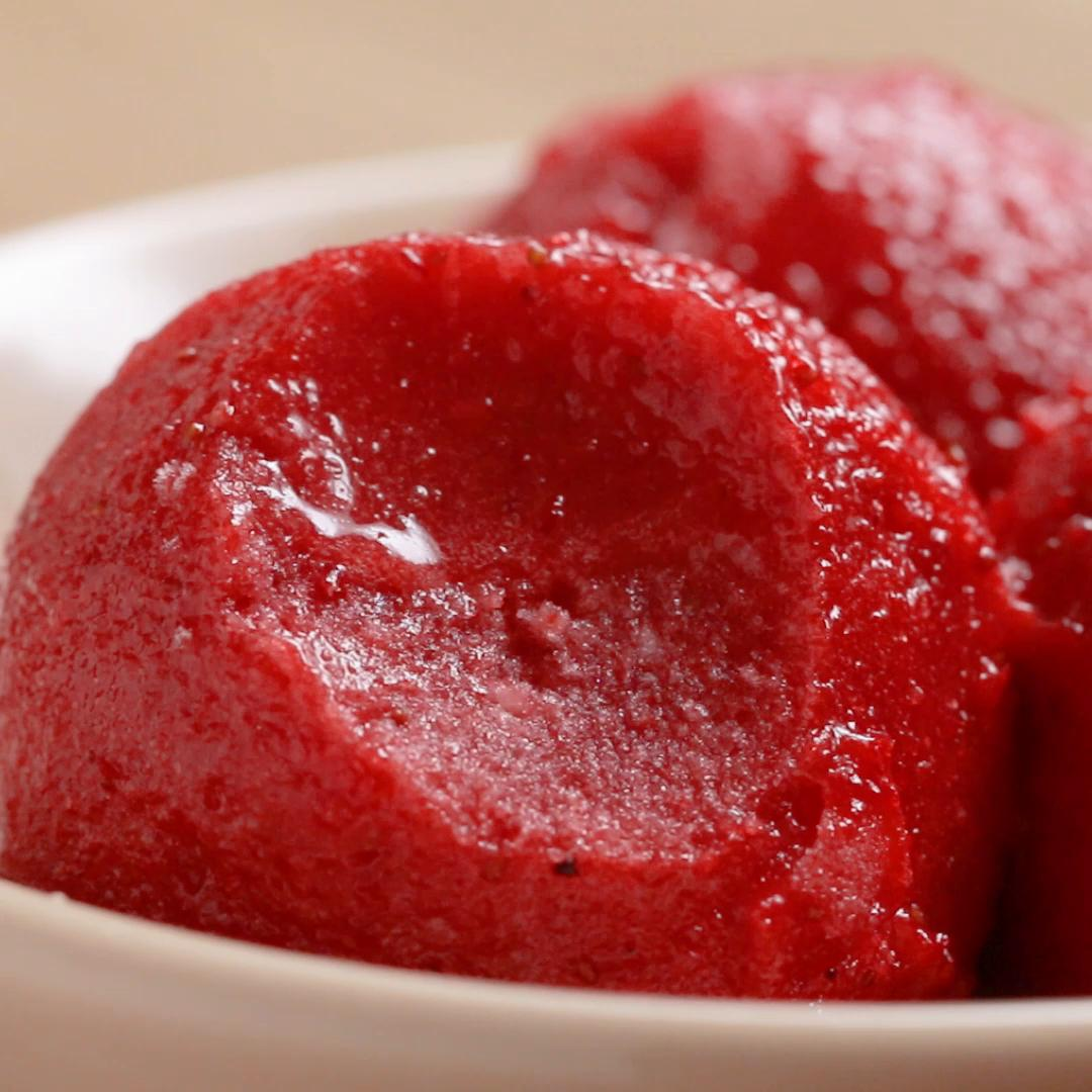 Strawberry 2 Ingredient Sorbet Recipe By Tasty