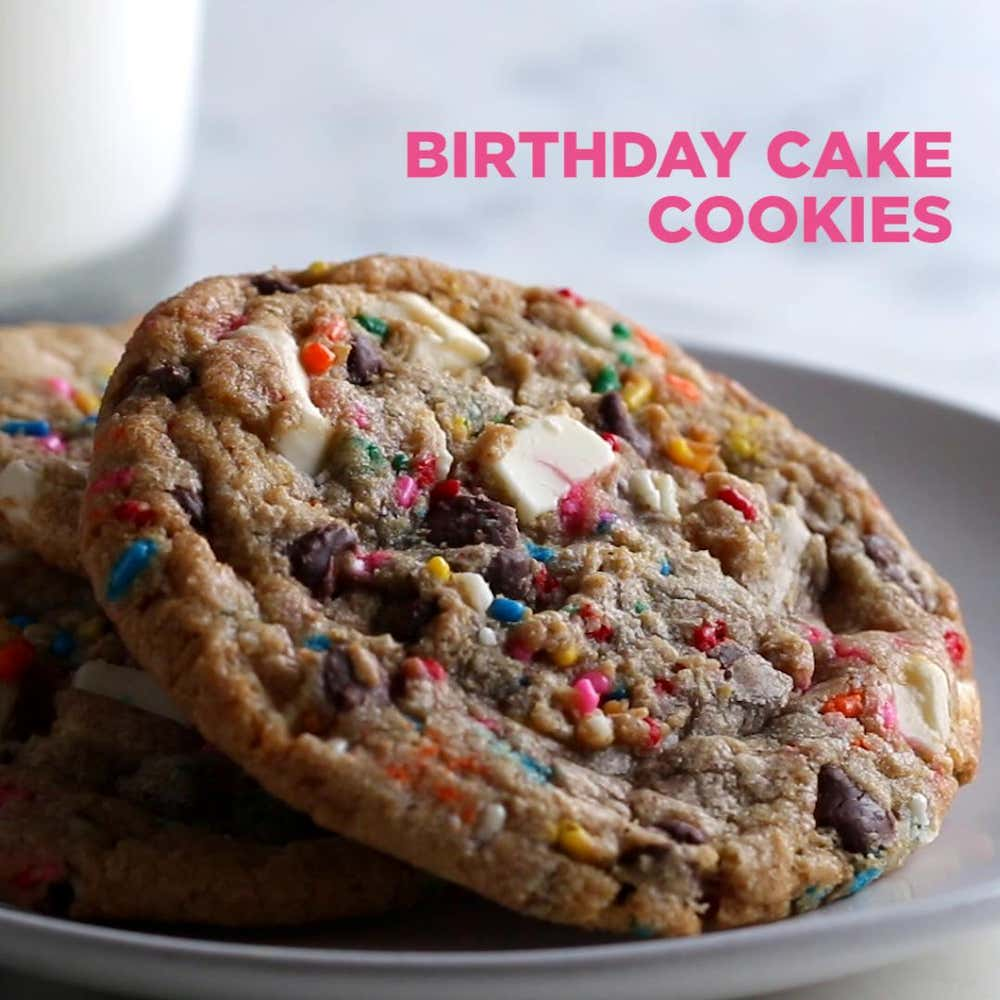Birthday Cake Cookies Recipe By Tasty