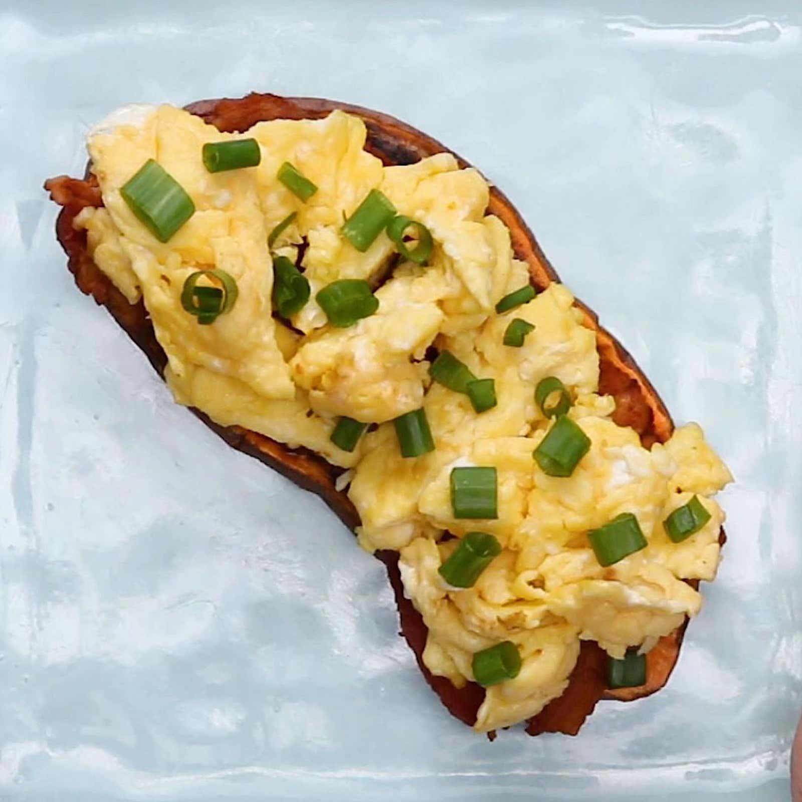 Bacon & Eggs Sweet Potato Toast
