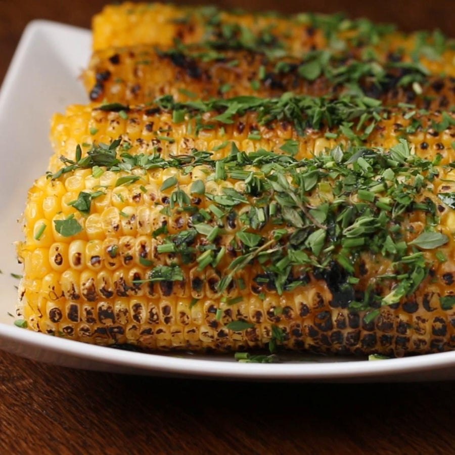 Honey Herb Grilled Corn