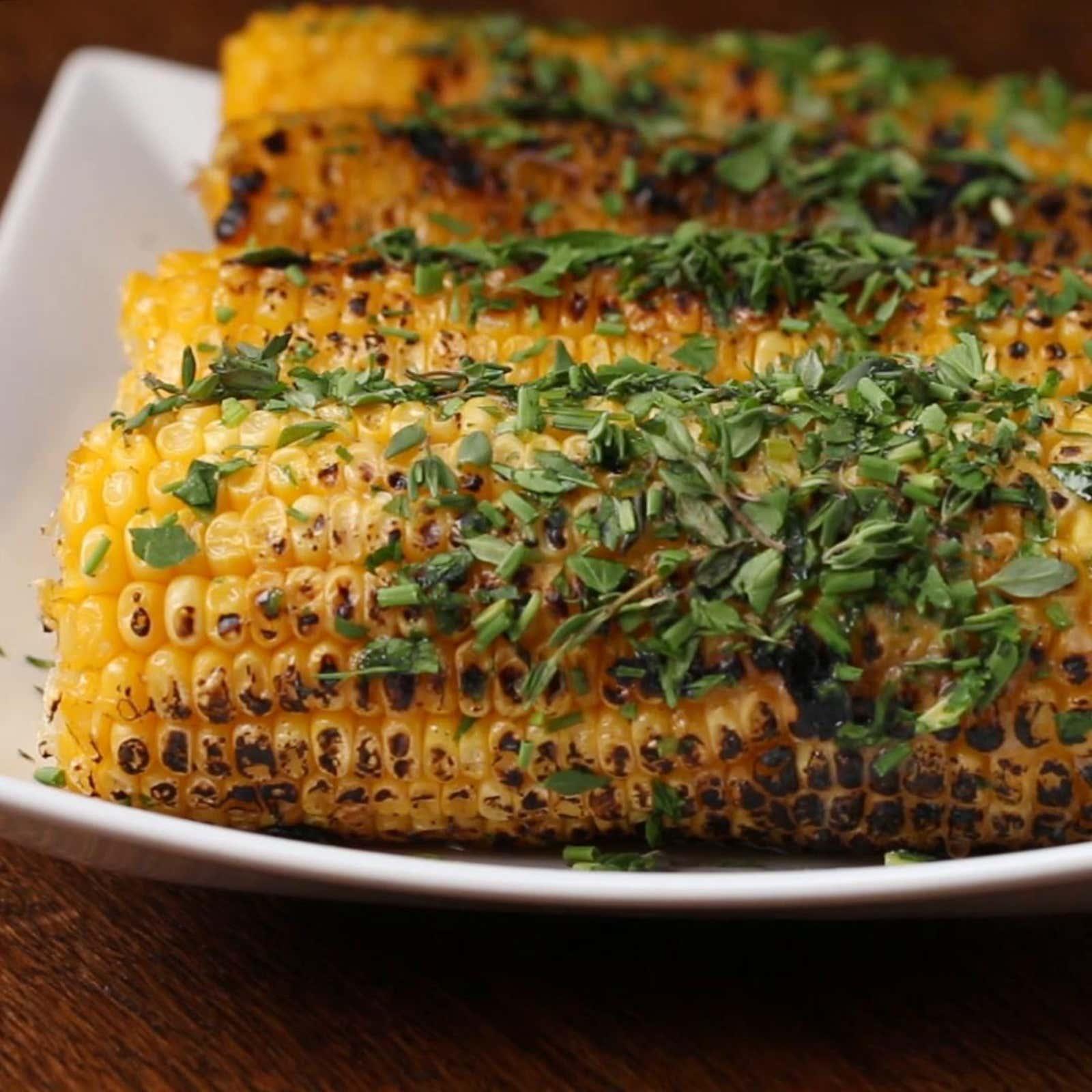 Honey Herb Grilled Corn