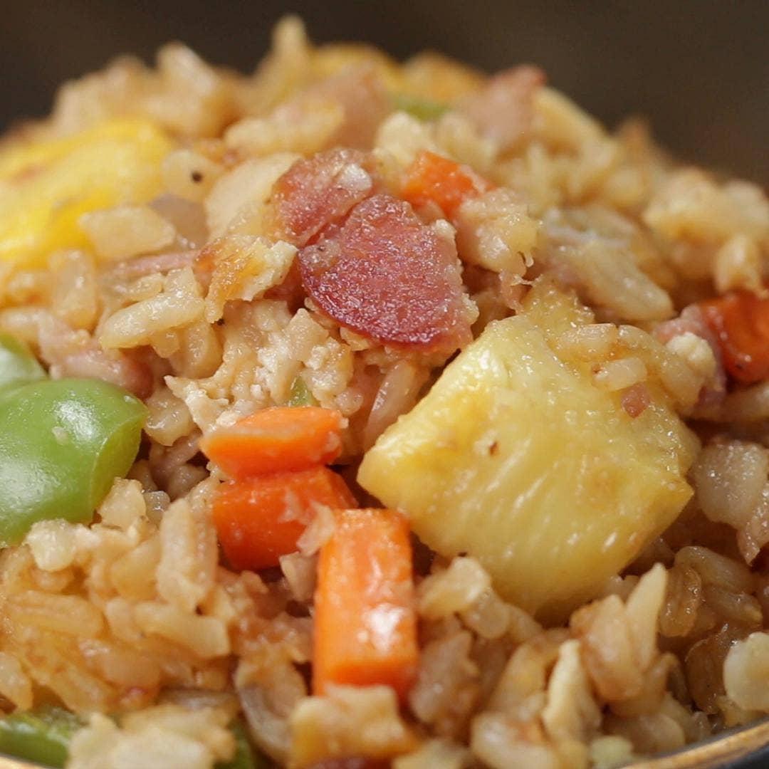 Ham Pineapple Fried Rice Recipe By Tasty