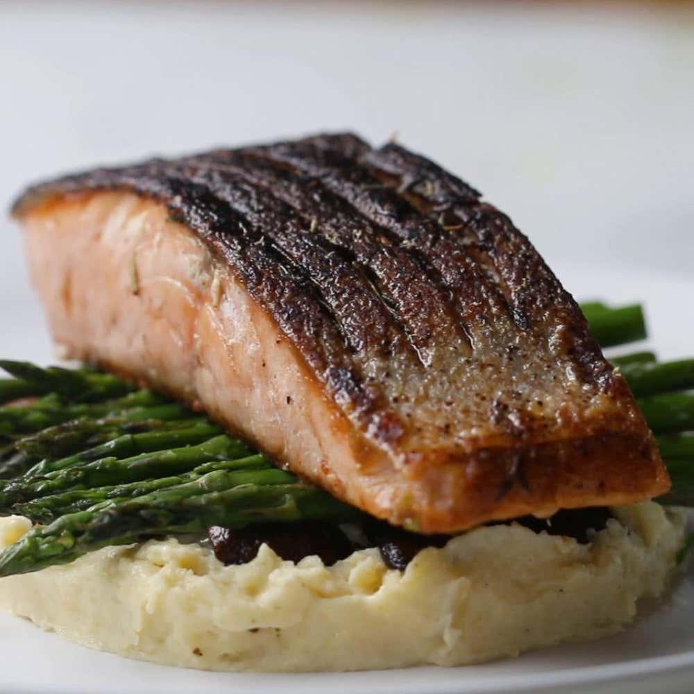 gourmet salmon dinner recipe by tasty