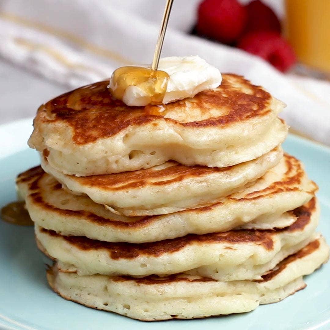 Buttermilk Pancakes Recipe By Tasty