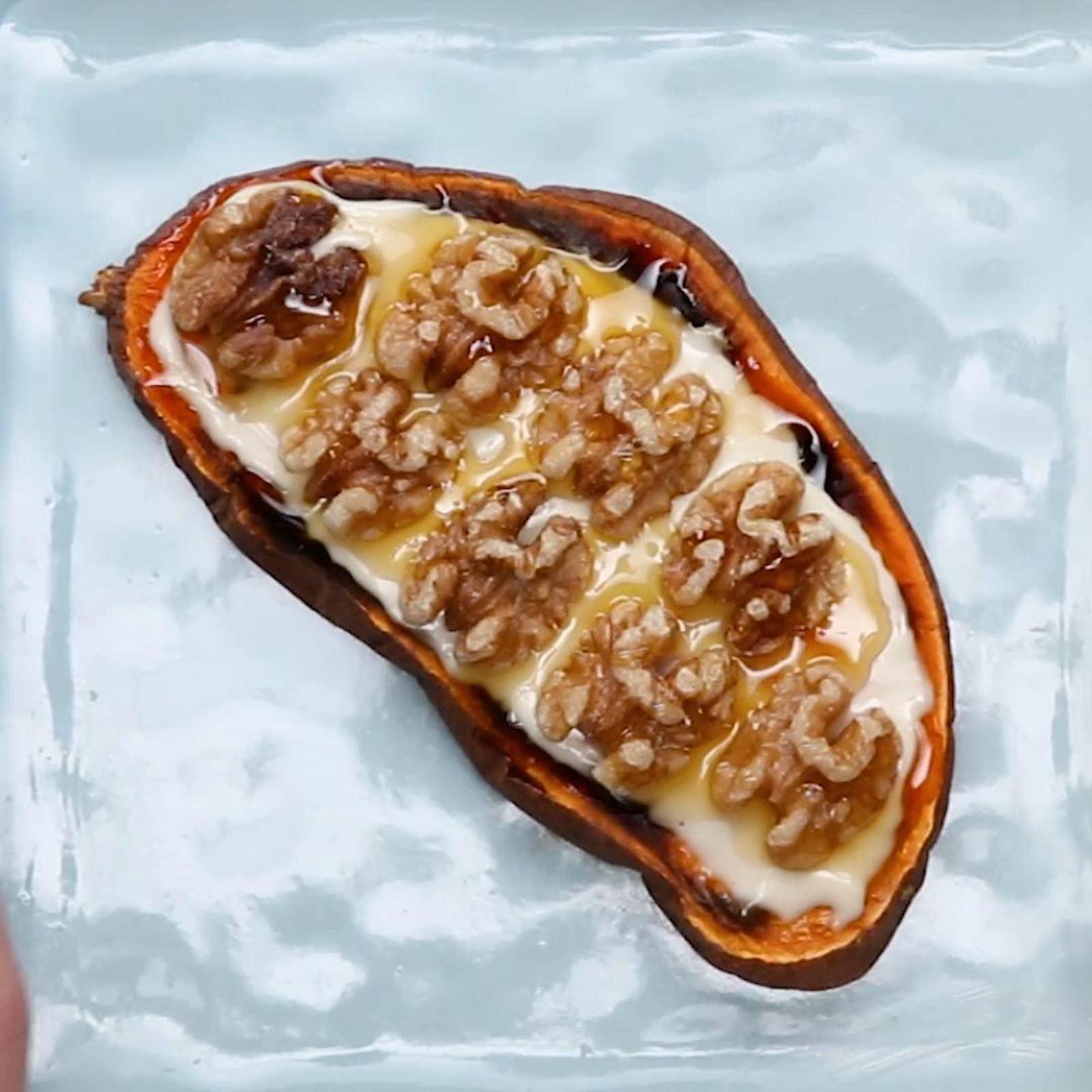 Brie & Walnuts Sweet Potato Toast