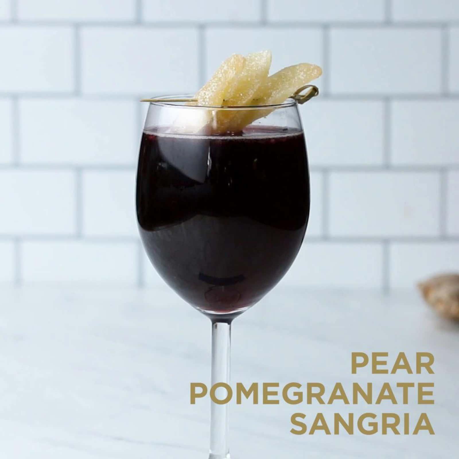 Pomegranate Pear Sangria