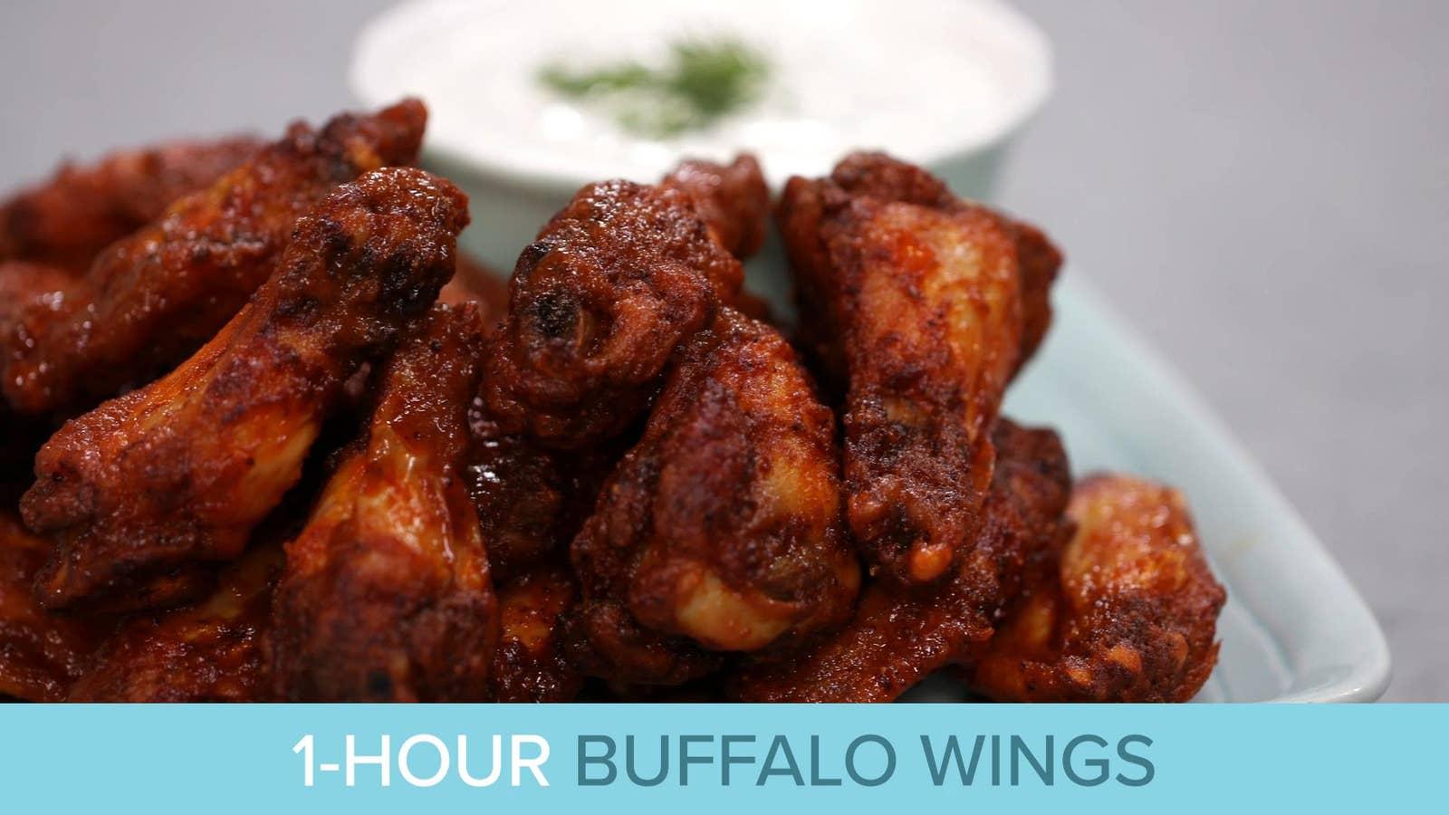 1-Hour Buffalo  Chicken Wings