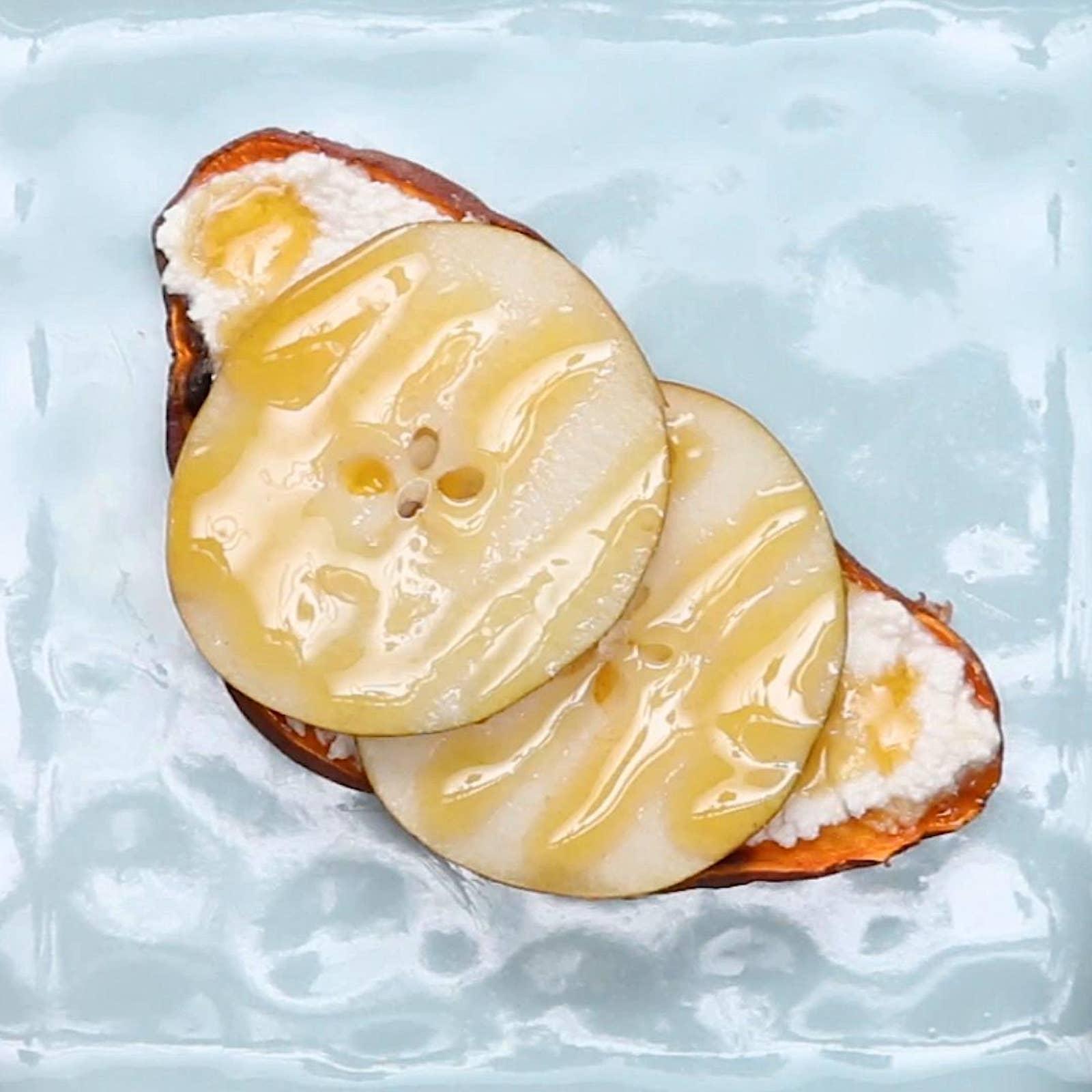 Pear & Honey Sweet Potato Toast