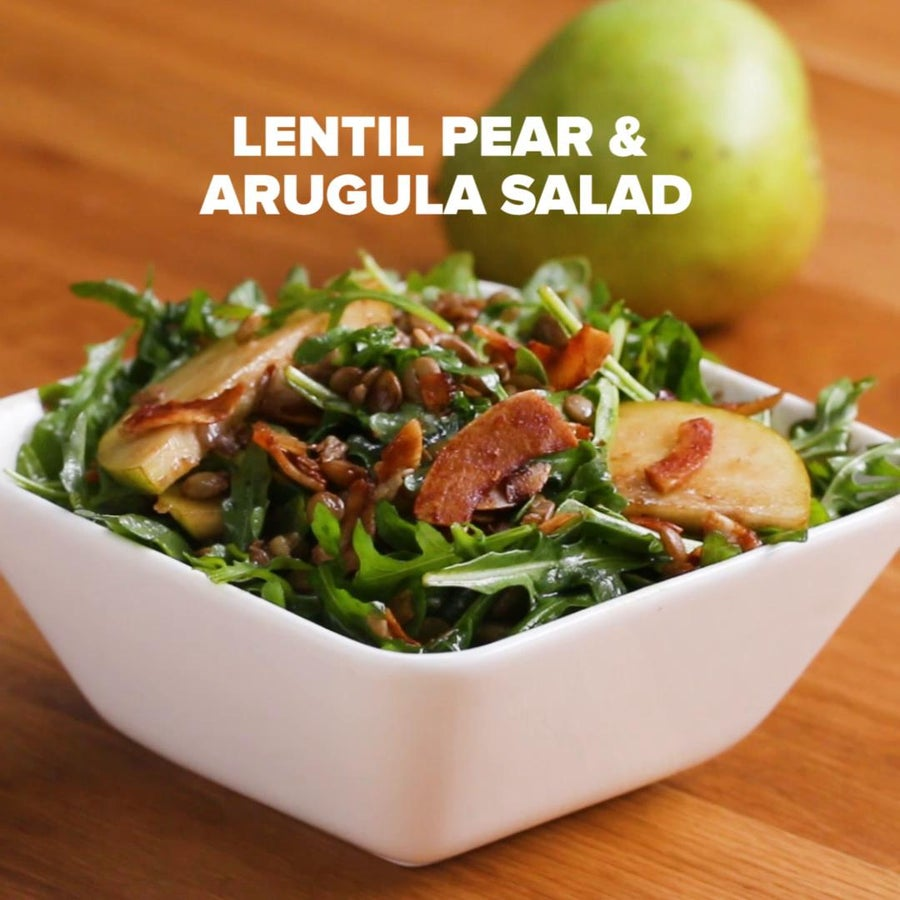 Lentil, Pear, And Arugula Salad