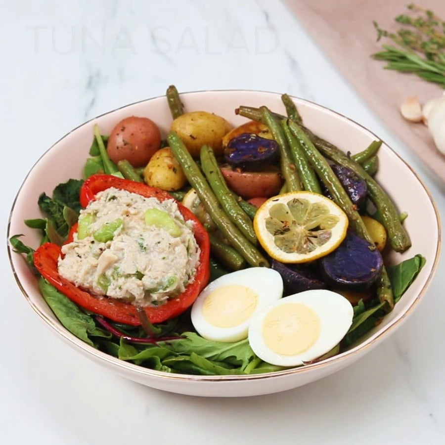 Tuna Salad With Roasted Veggies